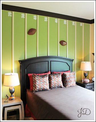 Boys Football Bedroom Home Decorating Ideas