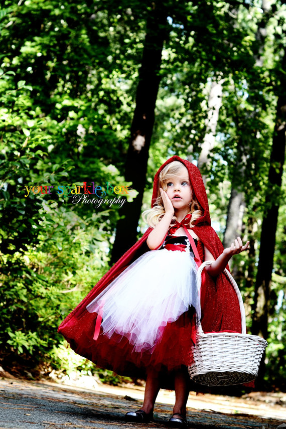 little red riding hood costume sparkle cape