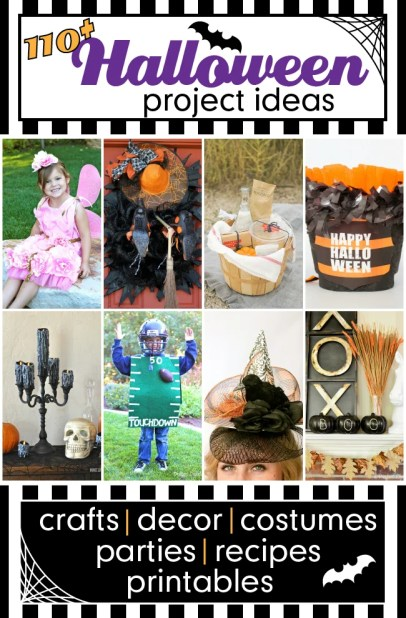 Over 110 fabulous Halloween Ideas shared by bloggers. #halloweenideas #halloween