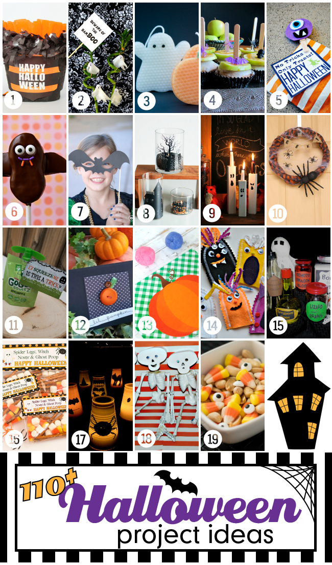 Over 110 fun & fabulous Halloween projects & ideas! #halloweenprojects #halloween #diyhalloweenideas