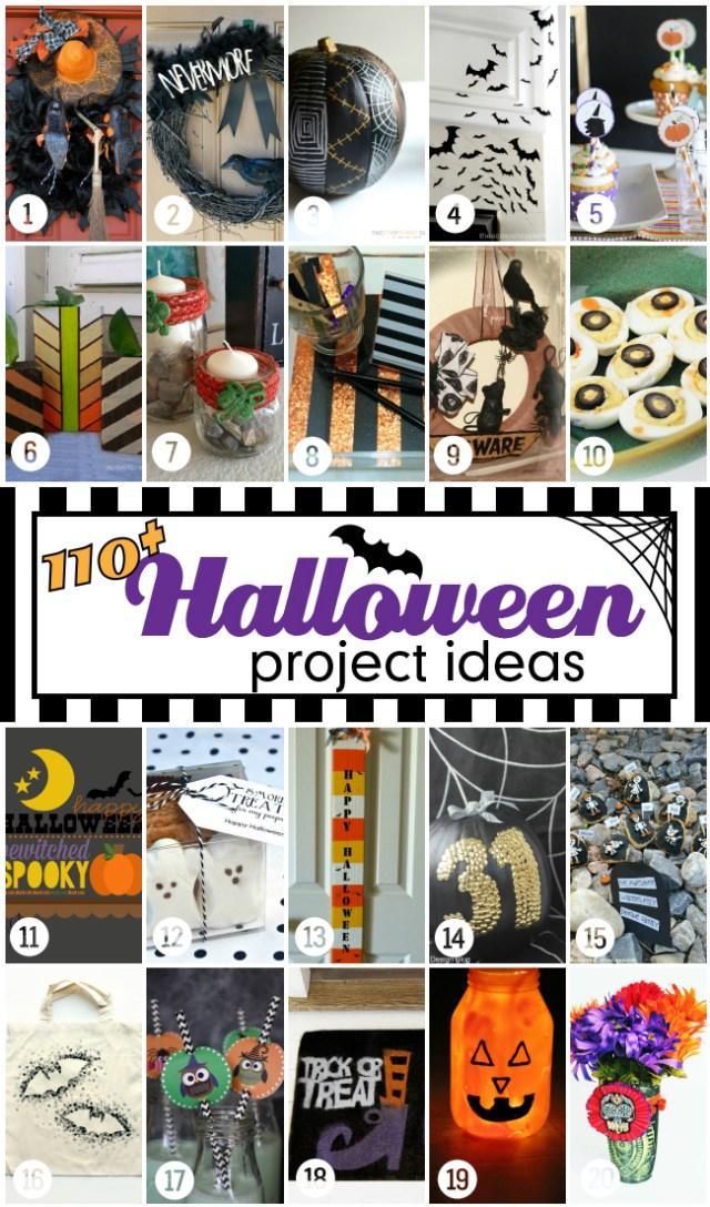 110 Halloween projects & ideas! #halloweenprojects #halloween