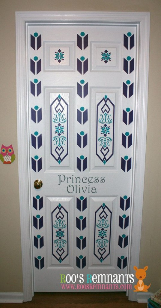 Frozen Inspired Bedroom Door
