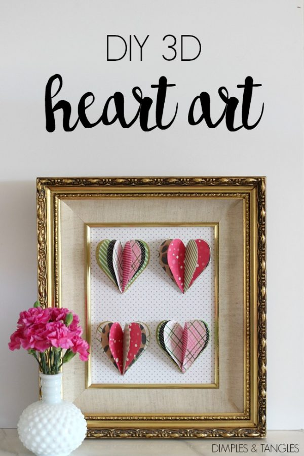 Whimsical Valentine 39 S Day Mantel Low Cost Diy Decorating Ideas