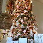 Pink Florals And Gold Metallics Christmas Tree Dream Tree Challenge Design Dazzle