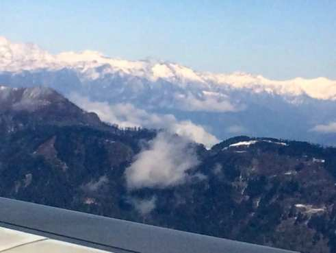 Flying into Paro