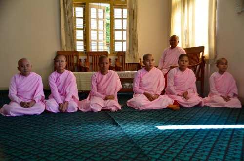 Nuns in Myanmar