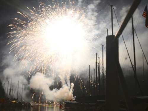 Fireworks in Saugatuck