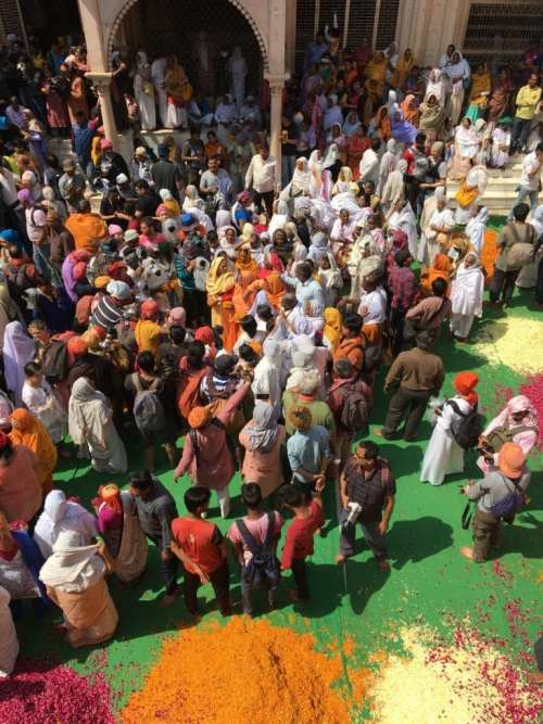 Waiting for the Holi Festival to begin.