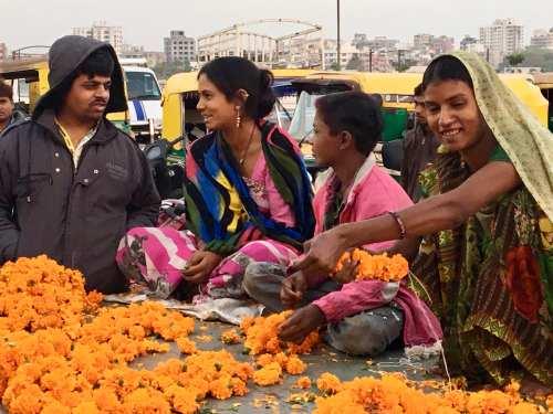 Ahmedabad-Flower Market