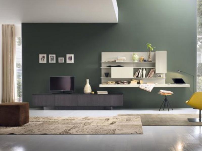 Scrivania ikea piccolissima con combinazione mobili da parete. Il Living Dei Sogni Moderno E Funzionale
