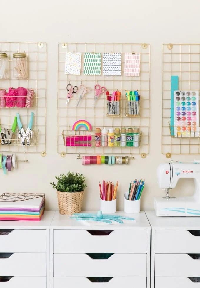 Craft Room Makeover Organization Ideas Design Eat Repeat