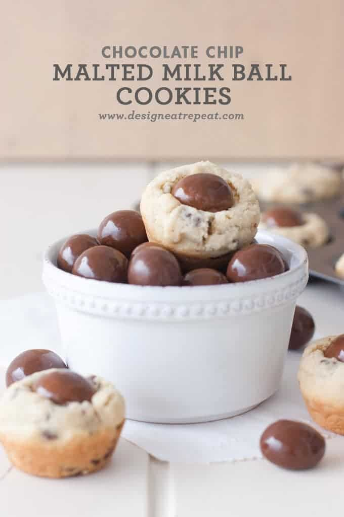 Chocolate Chip Malted Milk Ball Cookies || Design Eat Repeat