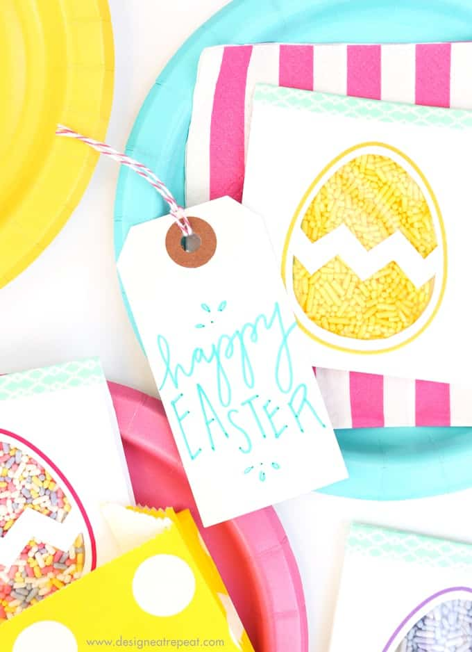 Easter Egg Printable Sprinkle Party Favors! How fun!
