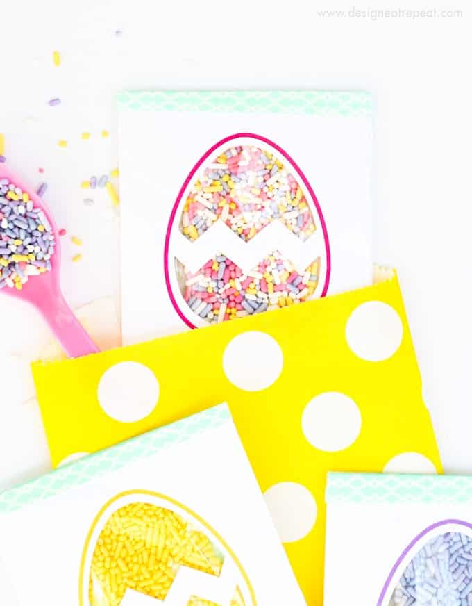 Easter Egg Printable Sprinkle Party Favors by Design Eat Repeat