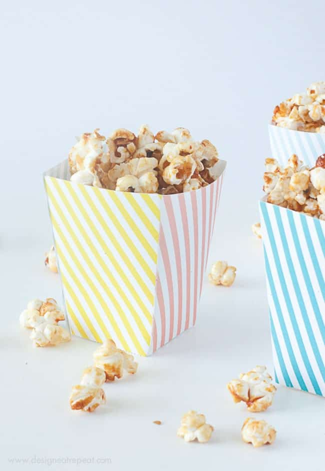 Free printable popcorn box template for Popcorn container template