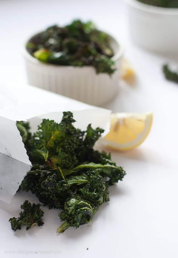 Kale Chips - Lemon & Garlic