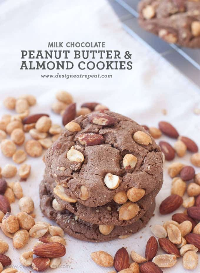 Milk Chocolate Peanut Butter & Almond Cookies