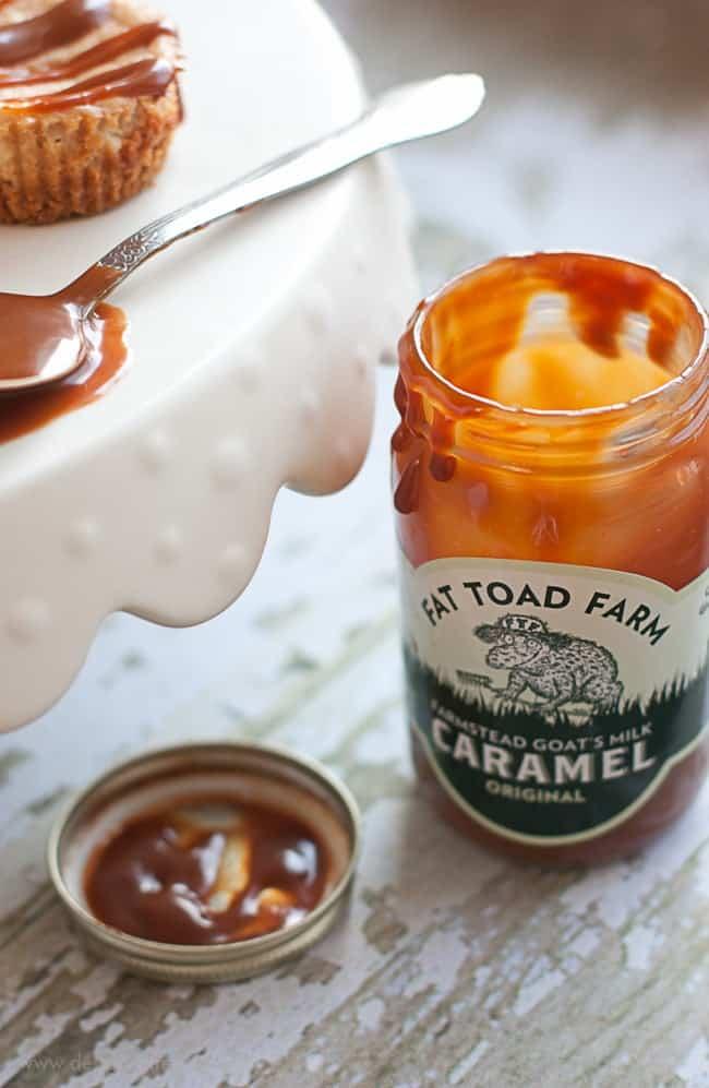 Mini Caramel Cheesecake Bites | Design Eat Repeat