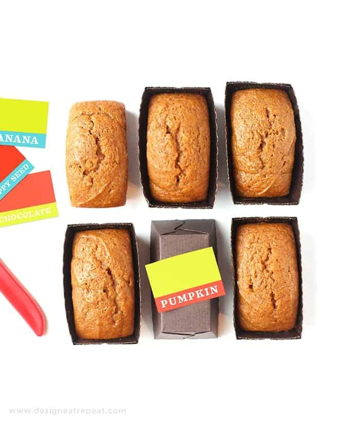 Mini Pumpkin Bread Loaves by Design Eat Repeat