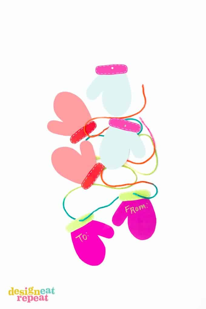 Printable Mitten Gift Tags!