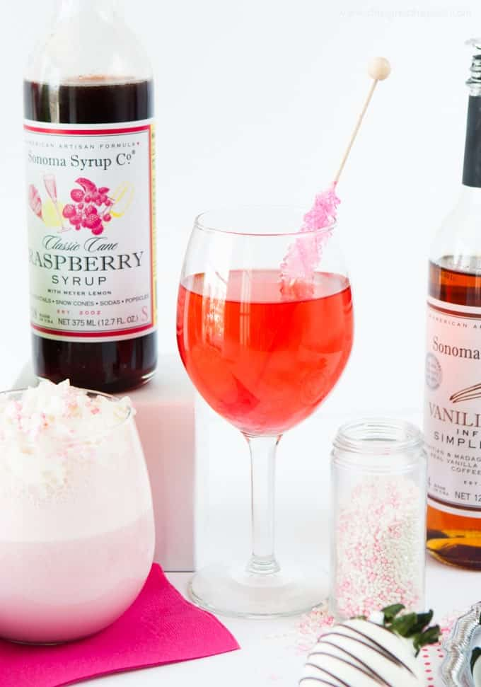 Raspberry Champagne Spitzer - would make a fun Valentines Day idea!