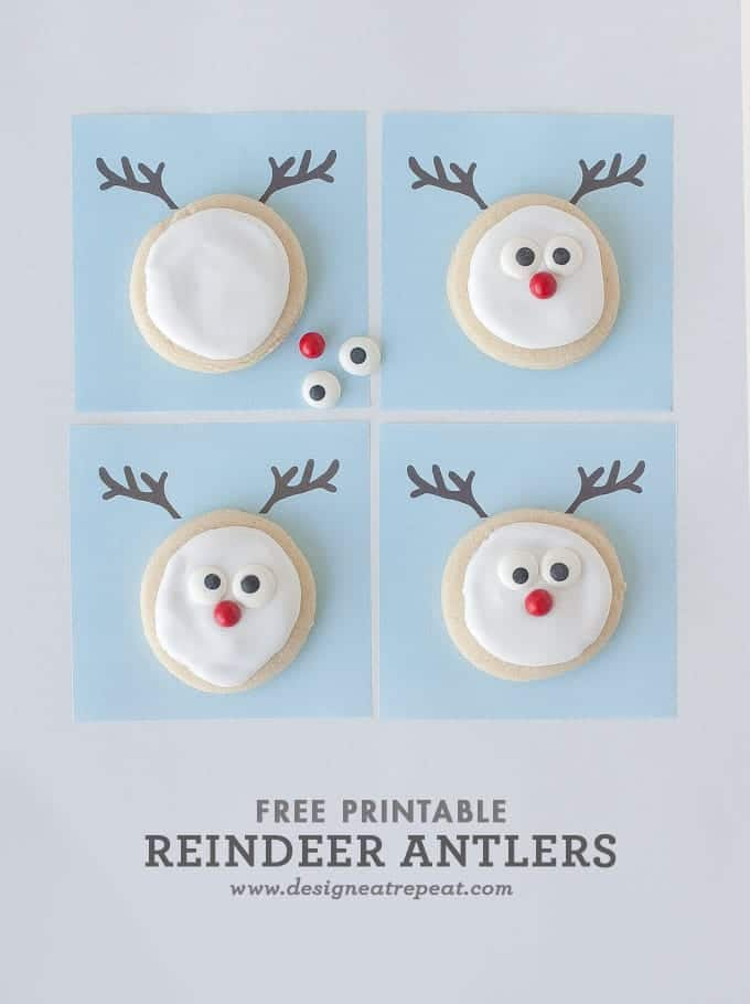 Reindeer Sugar Cookie Printable || A Christmas Cookie Decorating Idea