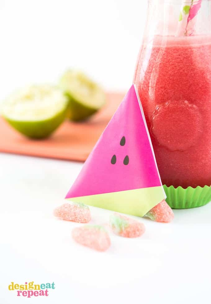Beat the summer heat with this refreshing Raspberry Watermelon Slushie! Made with fresh watermelon, frozen raspberries, and lime juice.