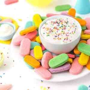 Birthday Sprinkle Sugar Cookie Dippers