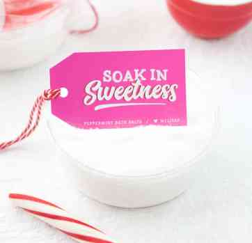 DIY Peppermint Bath Salts with Free Printable Gift Tags