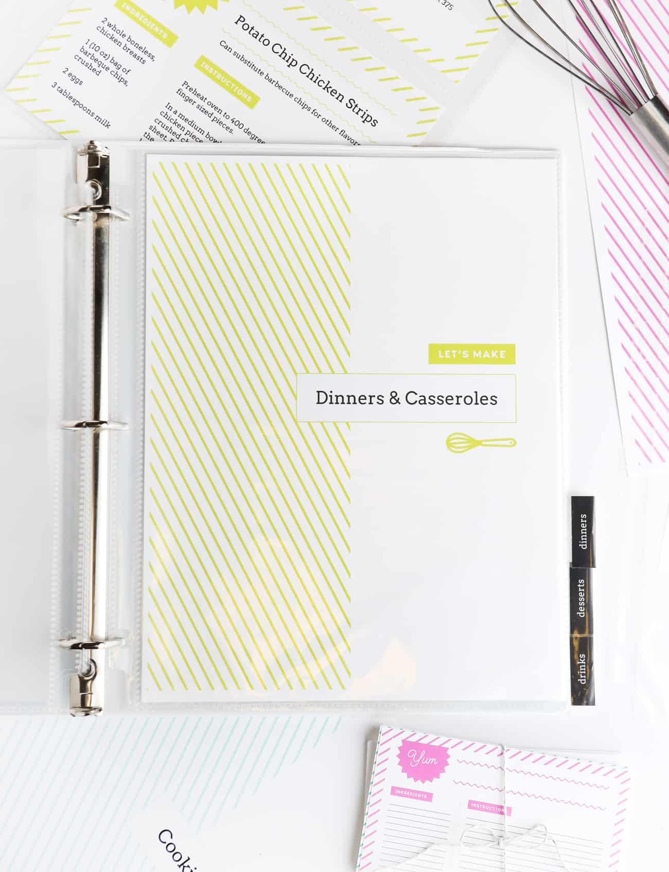 photo regarding Free Printable Recipe Binder Kit named do-it-yourself recipe binder printables