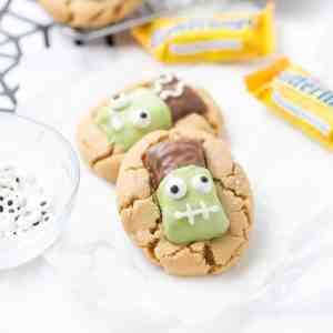 Easy BUTTERFINGER® Frankenstein Cookies