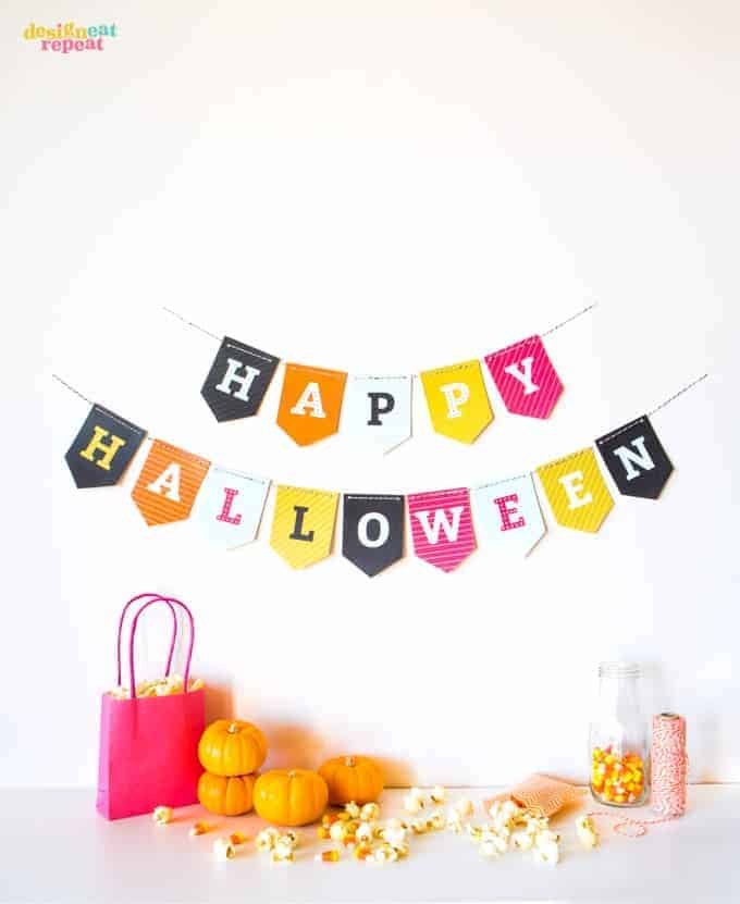 Free Printable Halloween Banner!