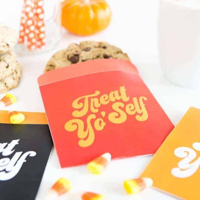 Treat Yo'Self Printable Treat Bags!