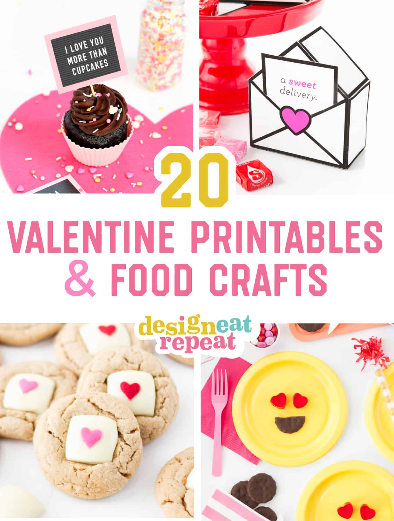 20 Easy Valentine Printables Amp Food Crafts