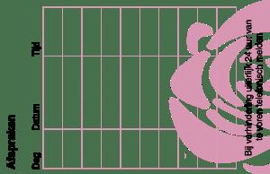 Afsprakenkaartje Pedicuresalon La Rosa