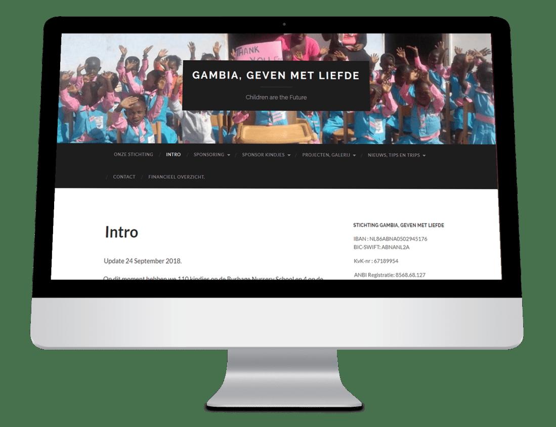 website stichting gambia geven met liefde