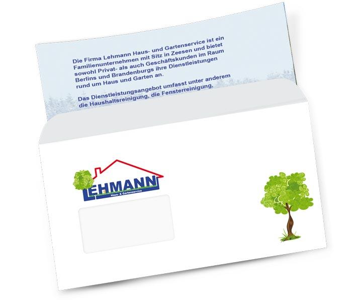 Briefumschlag gestalten und Briefumschlge erstellen  Gestaltung von Drucksachen