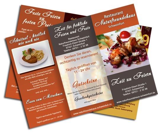 Speisekarten und Menkarten gestalten