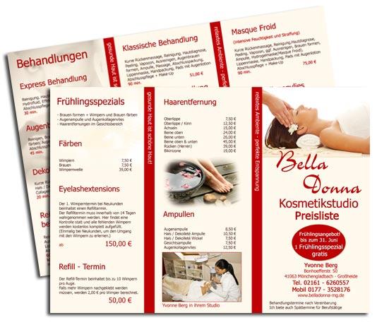 Kosmetik Flyer Design  Kosmetik Handzettel Erstellen inkl