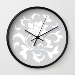oriental-flower-silver-wall-clocks