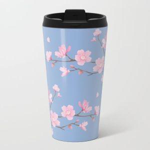 cherry-blossom-serenity-metal-travel-mugs