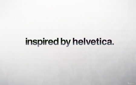 inspired by helvetica