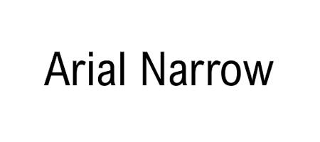 arial-narrow