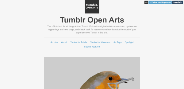 Tumblr Open Arts
