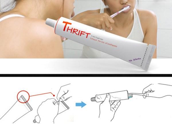 corte la pasta de dientes