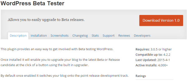 wp beta tester