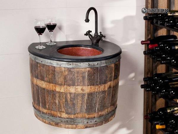 Vino fregadero barril