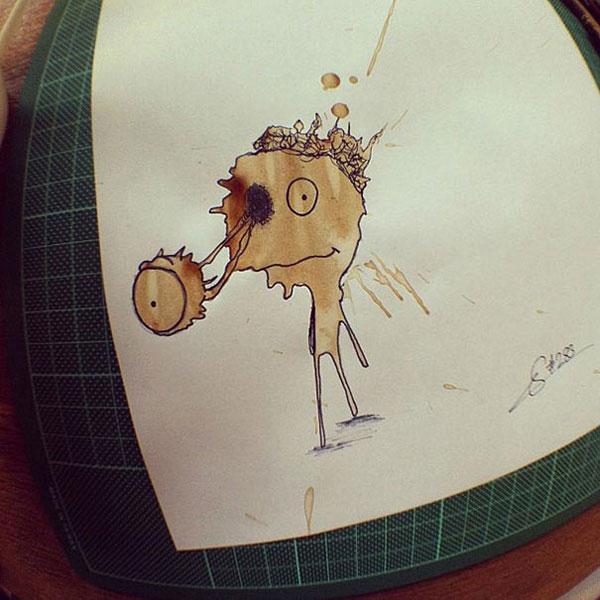 coffee-mancha-Doodle-monstruos-coffeemonsters-stefan-kuhnigk55
