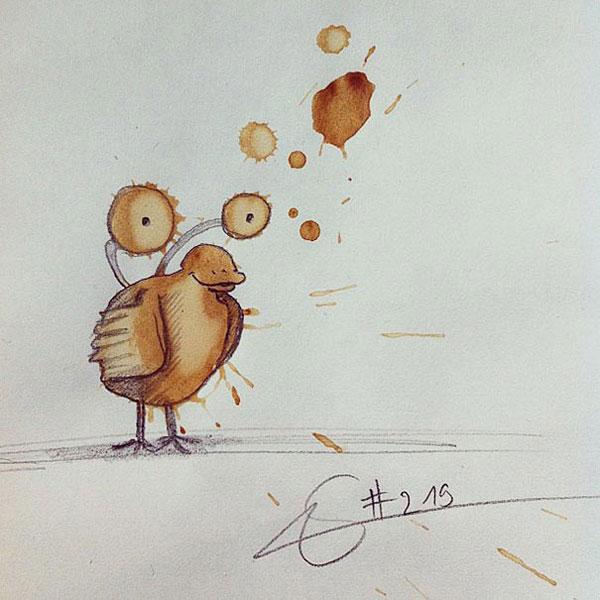 coffee-mancha-Doodle-monstruos-coffeemonsters-stefan-kuhnigk56