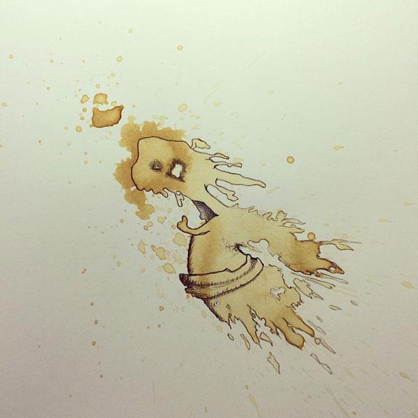 coffee-mancha-Doodle-monstruos-coffeemonsters-stefan-kuhnigk75